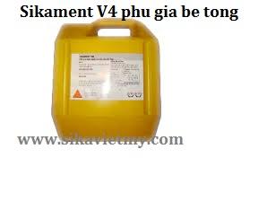 Sikament V4 phu gia be tong
