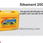 sikament-2000at phu gia giam nuoc be tong
